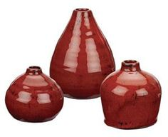 How To Decorate with the Fire Feng Shui Element: Red Color Vases or Decor Elements