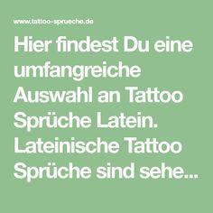Die 11 Besten Bilder Von Tattoo Sprüche Latein Tattoo