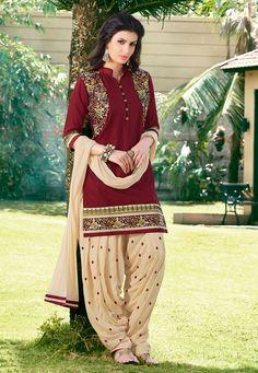 #PunjabiSuit in Maroon