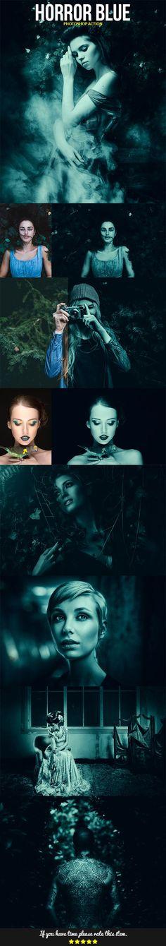 Horror Blue  — Photoshop Action #effect #retouch • Download ➝ https://graphicriver.net/item/horror-blue/18453039?ref=pxcr