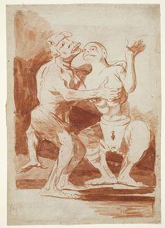 Goya en El Prado: Ranas humanas abrazándose