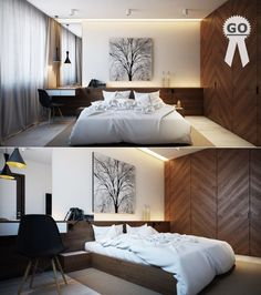 25 Amazing Platform Beds For Your Inspiration   Pinterest   Modern     Bedroom Charming And Nature Themed Bedroom With Wooden Beds Set With White  Cushions Also Bedding With Pendant Light Also Tree Painting Also Black  Chair