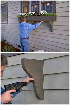 - How to Build a Window Box Planter Tutorial DIY Window Planter Box Ideas 14 Easy Step by Step Plans DIY & Crafts DIY Window Planter Box Ideas 14 Easy Step by Step Plans - Planters - Ideas of Planters Diy Planter Box, Diy Planters, Outdoor Planter Boxes, Pallet Planters, Planter Bench, Diy Garden, Home And Garden, Garden Boxes, Garden Ideas