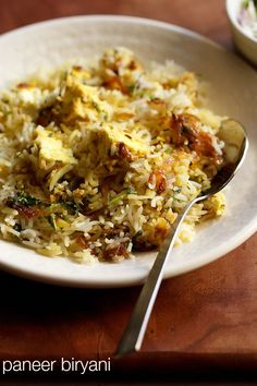 Vegetarian Biryani, Vegetarian Recipes, Healthy Recipes, Yummy Recipes, Indian Paneer Recipes, Indian Food Recipes, Rice Recipes, Cooking Recipes, Cheese