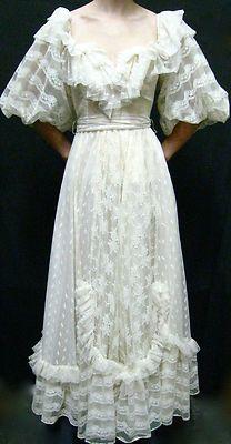 Vintage 70's 80's Gunne Sax Style Wedding Dress | eBay