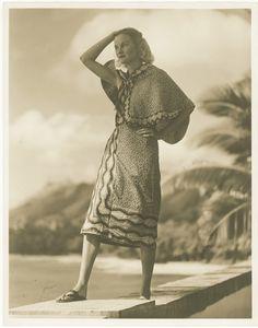 938年、シャングリラ完成直後のドリス・デューク Photo by Martin Munkácsi. Shangri La Historical Archives, Doris Duke Foundation for Islamic Art, Honolulu, Hawai'i. Gift of Hope Cromwell Hopkins.