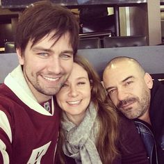 Bash with Daddy and Step-mommy from Reign.  Torrance Coombs, Megan Follows, Alan van Sprang
