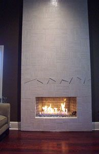 Before and After Fireplace Glass photos, AmazingGlassFlames.com, Fire Glass, DIY Fireplace remodel, Fire Pit glass,