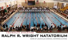 The Ralph Wright Natatorium features an eight-lane, 50-meter competition pool with a depth ranging from 4 feet 6 inches to 18 feet. Movable bulkheads enable the pool to be divided into two 25-meter or 25-yard competition-ready areas. The deep end features two 1-meter boards, two 3-meter boards and a tower with diving platforms at 5-, 7.5- and 10-meters.