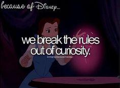 We break the rules of curiosity, Because of Disney