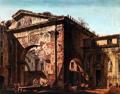 Portico d'Ottavia  Bernardo Bellotto (1721 – 1780)