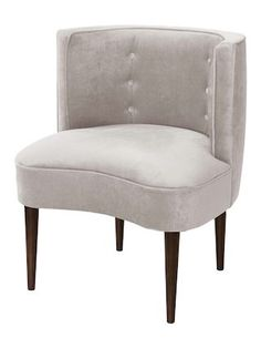 Button Tufted Armless Chair by Skyline Furniture at Gilt