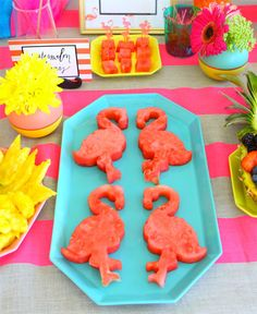 flamingo shaped wate