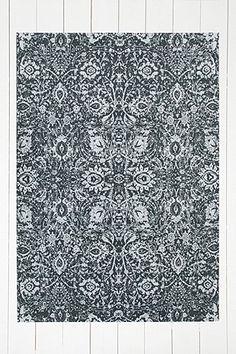 Safi Worn 5x7 Black Rug