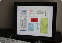Framed Ticket Art