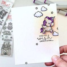 Unicorn Card created by designer Samantha Mann using the Sweet Stamp Shop Unicorn stamp set #sssunicorn