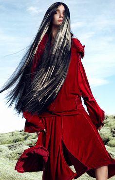 Collection: Angelo Seminara for Great Lengths - HJI Pre Bonded Hair Extensions, 100 Human Hair Extensions, Shot Hair Styles, Long Hair Styles, Angelo Seminara, Wacky Hair, World Hair, New Hair Trends, Green Hair Colors