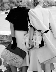 """hauteinnocence:  Svetlana and Ioanna by Paolo Zerbini in """"Chic in a Sheep's Skin"""" forVogue RussiaOctober 2013"""