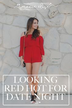 Click to learn how to look red hot for date night on Maxie Elise Blog! If you need Valentines outfits for women, then you will love this blog post! Make sure to get inspired by these Valentines day date outfit ideas too. Get the ultimate Valentines day outfit ideas from this article today and wear a stunning romantic dinner date night classy outfit! There's nothing more fun than dressing up for your date night ideas at home! Get red dress for date night outfit ideas now. #red #outfit #ootd