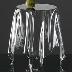 "Ghost table - Designed in 2005 by Danish designer John Brauer, ""Illusion"" is a handmade side table of 3 mm acrylic. All Illusion tables are handmade, individual and unique. The design gives the impression of a table cloth on a round table. Coffee Table Design, Coffee Tables, French Bedside Tables, Modern Furniture, Furniture Design, Acrylic Furniture, Unusual Furniture, Mirrored Furniture, Art Furniture"