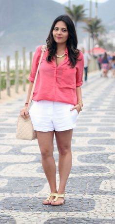 camisa-coral-short-branco-claudinha-stoco-1