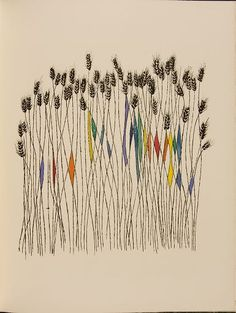 Ben Shahn. Love this one. His art is so simple and yet complex with all the simple lines. I love this one because of the touches of random color.
