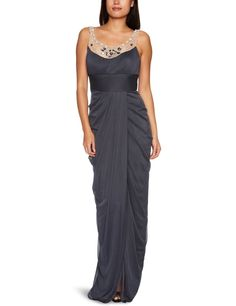 Amazon.com: Adrianna Papell Women's Long Goddess Dress With Embellishment: Clothing