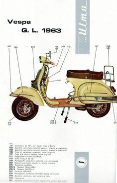 ulma accessories for vespa gl Vespa Vbb, Motos Vespa, Piaggio Vespa, Lambretta Scooter, Motorcycle Helmet Design, Scooter Motorcycle, Triumph Motorcycles, Vespa Vintage, Vintage Italy