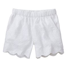 Petal Shorts In Cotton Eyelet by Hanna Andersson