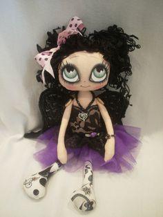 Veda Collectable Gothic Angel Cloth Art Rag by lesleyjanedolls