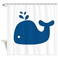 Shop Navy Blue Silhouette Whale Shower Curtain designed by Nautical Little Treasures. Lots of different size and color combinations to choose from. Whale Shower Curtain, Custom Shower Curtains, Bathroom Shower Curtains, Fabric Shower Curtains, Whale Bathroom, Gray Whale, Shower Rod, Navy Blue, Homes