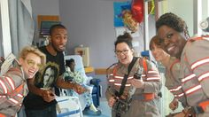 GHOSTBUSTERS CAST BRIGHTENS KIDS' DAY WITH SURPRISE HOSPITAL VISIT