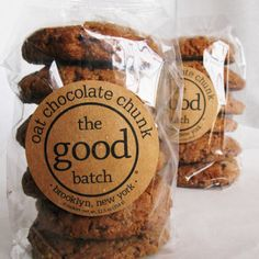 The Good Batch does a great job of maintaining that small bakery feel even though they have grown recently. Their brand personality is incredibly welcoming and warm, just like their goodies. #Bakery #Branding
