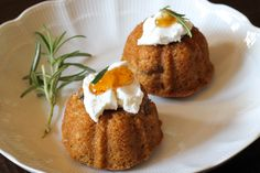 Mini Buttermilk Fig Cakes with Goat Cheese and Rosemary Recipe
