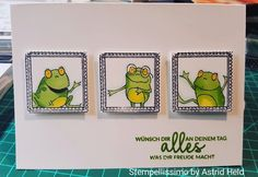 Stempellissimo: Froschkönig Stampin' Up! Sale-a-Bration 2019 - Stampin Up Karten, Stampin Up Cards, Discount Wood Flooring, Frantic Stamper, Paper Anniversary, Happy Together, Woodland Party, Animal Cards, Gag Gifts