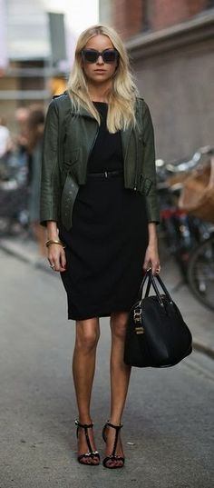 Emerald leather + black