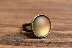 Moon glow ring mood ring adjustable ring statement by SomeMagic, $9.50