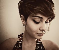 want this hair. yes. also kinda miss my septum piercing. :/