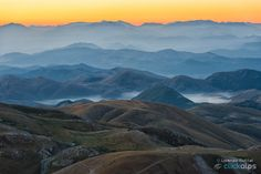 Misty sunrise - Quite often people asks me why I like to climb up to the mountains and if there is anything that pays off for the effort... Then, I usually show some shots like this one... and no other answer is required.  Plateau Campo Imperatore, Abruzzo district, Italy