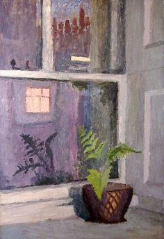 """""""Fern in Harley Street Window , Mary Potter (1900-1981) British Mary Potter """""""