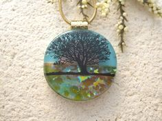 Tree Necklace Tree Jewelry Dichroic Jewelry Tree of by ccvalenzo