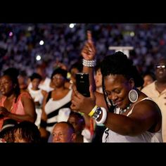 A concert goer dances as she listens to Maze featuring Frankie Beverly perform during Cincinnati Music Festival presented by P & G Saturday July 25, 2015 at Paul Brown Stadium. The Enquirer/Cara Owsley.