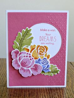 Rosie Posie and Rosie Posie Step 2 stamp sets, and the sentiment is from Papertreys Daydreamer set.