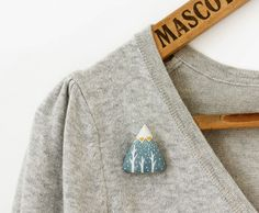 Sweet Bestiary | Design*Sponge mountain brooch triangle shape mmm love!