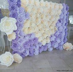 dikulya67: Гигантские бумажные цветы. Декор для праздников. Видео МК