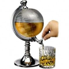 """Capacity: - The globe liquor dispenser is an interesting drink dispenser, put drinks in """"Arctic"""" and flow out in """"Antarctic"""". - 1 x Beverage Liquor Dispenser. - Adopts the combination of a globe and a water dispenser. Bar Drinks, Wine Drinks, Alcoholic Drinks, Drink Beer, Beverage Drink, Drinks Globe, Drinks Trolley, Beer Bar, Beer Machine"""