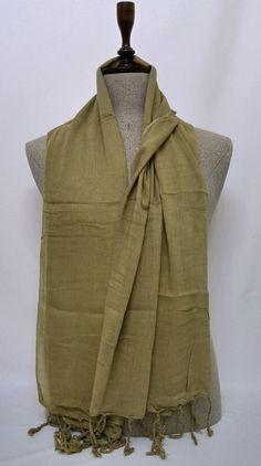 Cotton Soft Men's Scarf, Beige Scarf, Beige Soft Men's Scarf, Wrinkly Cotton Men's Scarf - SC270 #handmadeatamazon #nazodesign