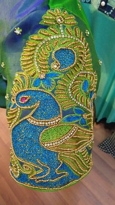 Hand Embroidery and Its Types - Embroidery Patterns Peacock Embroidery Designs, Hand Embroidery Design Patterns, Embroidery Stitches Tutorial, Embroidery Works, Hand Embroidery Patterns, Smocking Tutorial, Aari Embroidery, Cutwork Blouse Designs, Best Blouse Designs