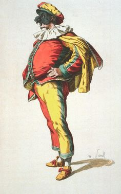 Although they seem as British as fish and chips, Punch and Judy shows are    thought to hark back to Italy's commedia dell'arte, a type of    improvised comedy based on stock characters. Punch himself is based on the    Neapolitan character of Pulcinella (pictured), a vindictive figure with a    long, beaky nose.