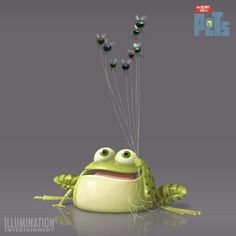 Concept Art: The Secret Life of Pets. Frosch Illustration, Cute Illustration, Character Illustration, 3d Character, Character Concept, Concept Art, Cute Drawings, Animal Drawings, Funny Frogs